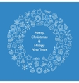 Merry Christmas and Happy New Year wreath vector image vector image