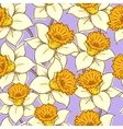 seamless pattern with daffodil vector image vector image