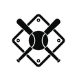 Baseball bats and ball on baseball field vector image