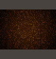 binary code golden background big data and vector image