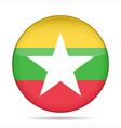button with flag of Myanmar Burma vector image