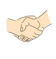 Drawing of handshake vector image