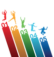number jumping vector image