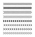 set of black arrows icon stock vector image