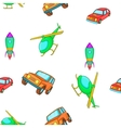 Transportation pattern cartoon style vector image