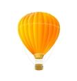 orange air ballon isolated on white vector image