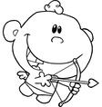 Baby cupid vector image