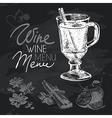 Mulled wine hand drawn chalkboard design set vector image vector image