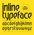 Modern inline typeface vector image