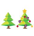 Green Polygonal Christmas Tree vector image vector image