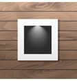 Hanging photo frame for picture placement vector image