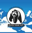 Bear in the mountains logo vector image