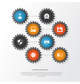 digital icons set collection of personal computer vector image