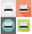 furniture flat icons 11 vector image