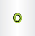 green black letter o or number 0 zero logo icon vector image