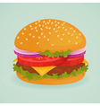 Hamburger vector image