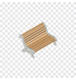 isolated bench isometric seat element can vector image