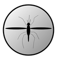Mosquito button vector image