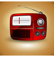 old fm radio icon vector image