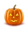 scary pumpkin halloween lantern realistic vector image