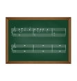 School desk with notes vector image
