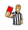Black White Referee vector image vector image