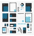 Blue line corporate identity template vector image vector image