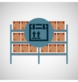warehouse box fragile icon vector image