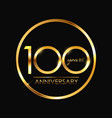 Template 100 years anniversary vector image