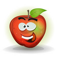 funny apple fruit character vector image