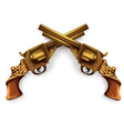 Crossed Revolvers vector image