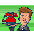 Phone Butler Cartoon vector image vector image