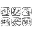 gardening doodle vector image vector image