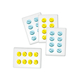 Medical Pills in Blister Packs vector image
