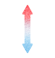 Hot and Cold Arrow Vertical FINAL vector image