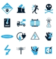 High voltage icons set vector image