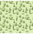 Green trees pattern vector image