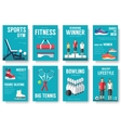 Sport lifestyle typography cover design concept vector image