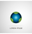 Abstract blue sphere logo vector image