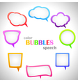 Color Speech Bubbles vector image vector image