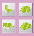 Animal Shape Frame Border Situate vector image