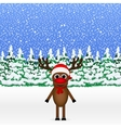 Christmas cartoon reindeer standing vector image