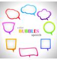 Color Speech Bubbles vector image