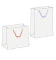 Drawing of two white shopping paper bags vector image