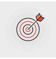 Goal flat icon vector image