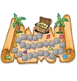 Pirate treasure chest - vector image