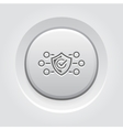 Protection and Safety Icon Grey Button Design vector image