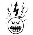 stickman cartoon of man in burst of anger vector image