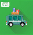 travel car icon business concept vacation auto vector image