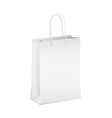 Empty white shopping paper bag vector image vector image
